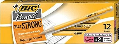 Bic Xtra-strong Mechanical Pencil Yellow Barrel Thick Point 0.9mm 12-count