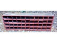 "40 pigeon hole steel storage unit-51"" x 17"" x 8 ½ "".Ideal workshop-garage-shed-retail"