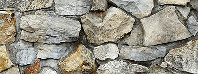 "Silver Medley Rock / Stone Aquarium Background 10.5""x30"" / 20 Gallon Long"