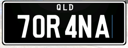 Torana number plates forsale
