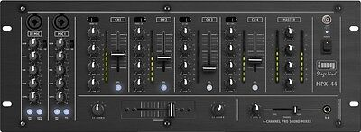 IMG Stage Line 6-Kanal Stereo Mischer PA Party DJ-Mischpult MPX-44/SW
