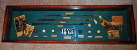 History of Golf Montage in Glazed Case. Can deliver Ipswich/Felixstowe area