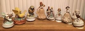 Vintage collectible porcelain musical figurines MUSIC BOX/ Set of 8 or separate