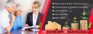 super visa Insurance / Visitor visa Insurance / Critical & Disability Insurance / Kids Insurance - call 416-829-5000
