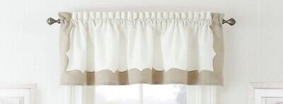 """Waterford Cassia Window Valance Linen Cotton 60""""x14"""" White Natural, used for sale  Warwick"""