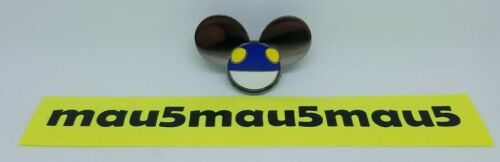 Deadmau5 Series 1 Enamel Pin Numbered to 1000 Cube v3 Tour Blue Face Head #980