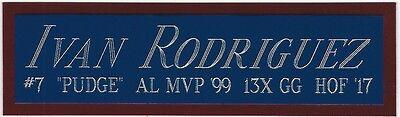 IVAN RODRIGUEZ RANGERS NAMEPLATE AUTOGRAPHED Signed BAT-JERSEY-BASEBALL-PHOTO (Ivan Rodriguez Signed Baseball)