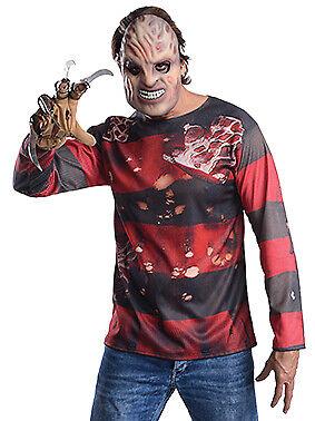 Freddy Kit Kostüm Set Freddy Krüger Elmstreet Shirt und Handschuh für Erwachsene