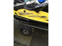 Jetski Seadoo Xpltd Fibreglass Race Seat Jet-Ski