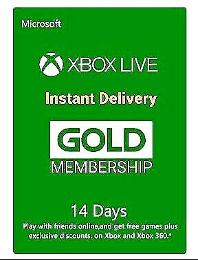 XBOX LIVE GOLD 14 DAYS MEMBERSHIP TRIAL XBOX 360 / XBOX ONE UK **FAST DELIVERY**