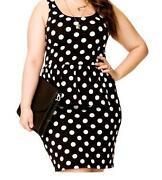 Plus Size Polka Dot Dress