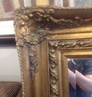 Victorian mirror, Decorative wall candle holder, & wall picture