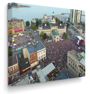 CANVAS PRINT - Market Square on August 20th, 2016 Kingston Kingston Area image 1