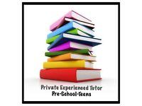 Private Tutor Pre-School-Teens School Starters-Revision Help