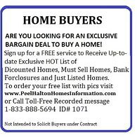 ATTENTION HOME BUYERS-Receive Free Exclusive Daily List of Homes