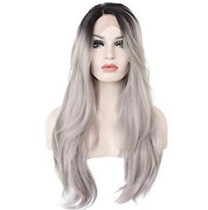 silver ombre lace wig