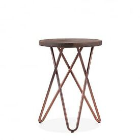 Hairpin leg copper stool