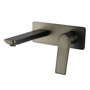 Brushed Gun Metal Grey Wall Mixer With Spout South Granville Parramatta Area Preview