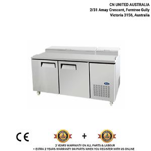 Double Door Pizza Prep Table Refrigerator (523L)