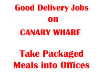 7.30am Start. Canary Wharf. Delivery Foot or Bike Courier/ Brand Ambassador