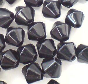 200 x 4mm / 100 x 6mm / 50 x 8mm Crystal Glass Bicone Beads - Free UK Postage