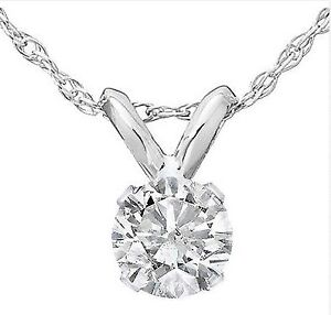 This 1/3ct Round Solitaire White Gold Diamond Pendant