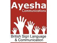 BRITISH SIGN LANGUAGE ALL LEVELS