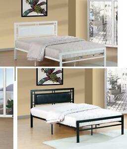 SAVE $190!!! Metal Platform beds in Black or White, Twin, Double or Queen. Regular $449 Now $259.