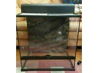 Exo Terra Glass Reptile Tank 2ft x 1.5ft x 2ft & Exo Terra Compact Top Canopy 60cm
