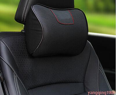 For Subaru XV 2018 Ergonomic Genuine Leather Auto Car Headrest Pillows 1PCS