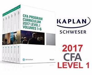 NEW KAPLAN CFA 2017 LEVEL 1 SET CFA Program Curriculum 2017 Level I, Volumes 1 - 6 - TEXTBOOK - KAPLAN SCHWESER 90736651