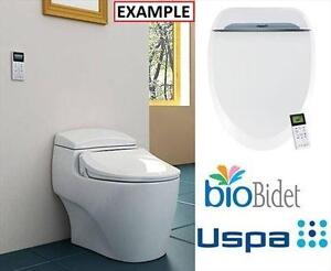 NEW* BIOBIDET ELONGATED TOILET SEAT BIDET TOILET SEAT - WHITE 102995558