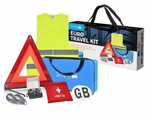 7pce EUROPEAN EU TRAVEL KIT EURO CAR DRIVING MOTORING ABROAD EUROPE FRANCE SET