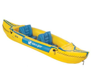 Inflatable Kayak for 2 / 2 life jackets inc (excellent conditio)