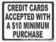Credit Card Sign