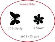 Flower Wall Art Stickers