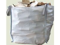 Kiln dried hardwood logs - cubic metre bags delivered
