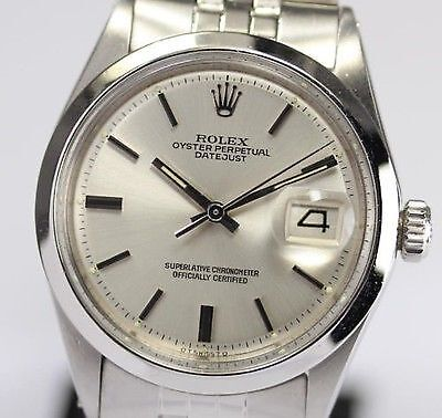 Rolex Datejust 1600 with characteristic smooth bezel
