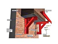 Gallows Brackets Chimney Supports - Pair