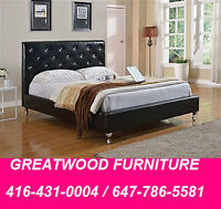 BRAND NEW LEATHER BED WITH CRYSTALS ....$349