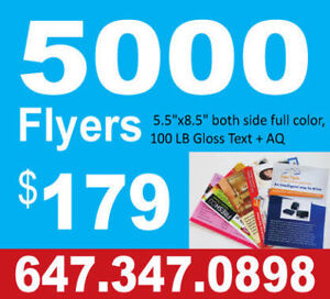 WONT BE BEAT !!! 5000 FLYERS ONLY $179