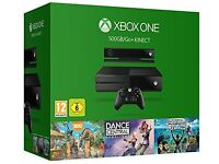 Xbox1 500gb with 4 games, 2 controllers