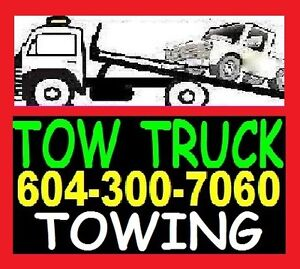 TOWING 604-300-7060 FLAT RATE_Flat Deck_TOW TRUCK_Lower Mainland
