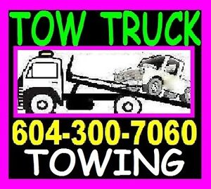 TOWING*604-300-7060*TOW TRUCK*FLAT RATES*SRY,Delt,Lang,BBY,GVRD