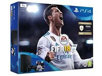PS4 PRO 1 TB WITH FIFA 18 ULTIMATE TEAM BRAND NEW SEALED