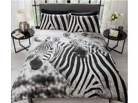 Zebra Duvet Set Single - £13 Double - £19 King Size - £23