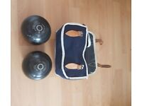 Two bowling bowls for sale