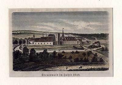 Hildesheim - Steuerwald - kolorierter original Holzstich aus Görges 1881