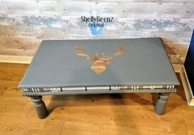 the Lairds coffee table with stag motif