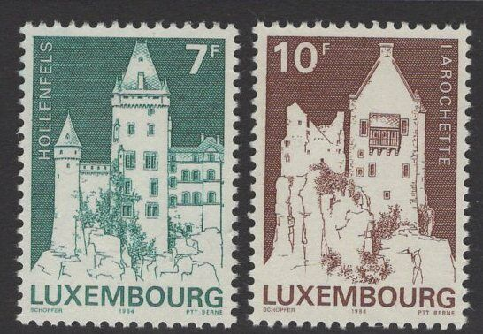 LUXEMBOURG SG1142/3 1984 CLASSIFIED MONUMENTS MNH